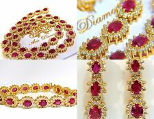 ██ $307600 GIA 67.20CT NO HEAT RUBY DIAMOND NECKLACE BRACELET EARRINGS UNHEATED█