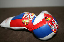 SERBIA / SERBIAN FLAG Mini Boxing Gloves ORNAMENT