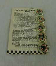 Vintage 1946 Ralston Cereal Tom Mix Straight Shooters Decoder Pins Instructions