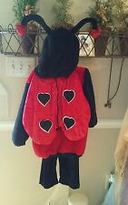 2 PIECE LADY BUG COSTUME CHILDS MEDIUM