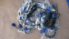 Lot of 25 SVGA Male To VGA Male 15pin Cable Cord Connects Computer to Monitor,TV