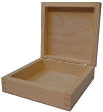 QUADRATO IN LEGNO DI PINO COPERCHIO FLIP BOX dd149 Storage Ciondolo Gioielli caso Anello di piccole dimensioni