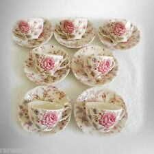 Johnson Bros seven cup and saucer sets of ironstone Rose Chintz - FREE SHIPPING