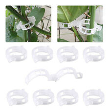 100x Tomato Clips Connects Plants Supports Vines Trellis Cages Twine Greenhouse