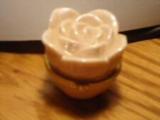 Mary Kaye Pink Ceramic Rose Trinket Box NEW