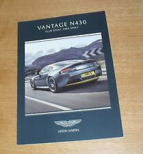 Aston Martin V8 Vantage N430 Price & Options Brochure 2015 - Coupe & Roadster
