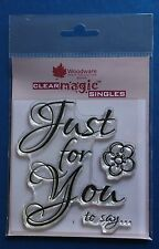 Woodware 'Scripted Just for You' Clear Magic Stamp FRS194