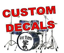 CUSTOM PERSONALISED DRUMKIT DECAL STICKER bass drum head skin