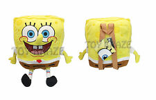 "SPONGEBOB SQUAREPANTS PLUSH BACKPACK! LARGE SOFT PILLOW DOLL LICENSED 17"" NTW"