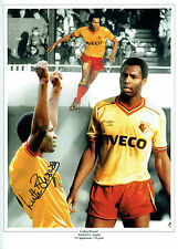 Luther BLISSETT Signed Autograph 16x12 Watford Montage Photo AFTAL COA