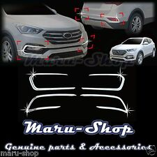 Chrome Fog Light Lamp/Reflex Lens Cover Trim for 17+ Hyundai Santa Fe Sport