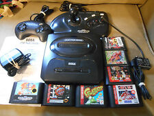 Sega Genesis Console (NTSC) w/2 Controllers- RF Switch- Adapter- 7 Games-TESTED!