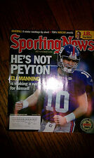 The Sporting News Eli Manning #10 QB New York Giants NFL HOF Super Bowl Champ