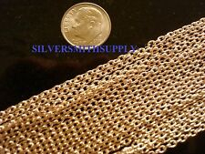 6 Feet rose gold plated cable chain 3mm x 2mm 1/8 inch 13 links per inch pch003