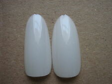 50 x NATURAL   FULL OVAL HEAD/ ROUND STILETTO WHOLE NAIL