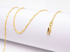 "1PCS Wholesale 22"" Jewelry 18K Gold Filled ""Water Wave"" Chain Necklace Pendants"