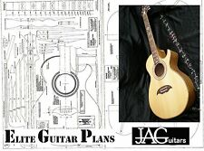 Luthiers Project Plan/Drawing for cutaway acoustic guitar Ideal Gift