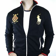 NWT Polo Ralph Lauren Custom Fit Big Pony Zip Jacket Black Watch Logo Size M