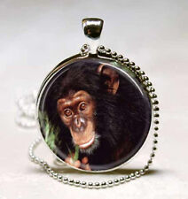 New Apes Cabochon Glass Necklace Pendant Ball Chain Necklace