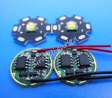 10W 20mm Cold White Cree XML T6 LED Light Bead +DC3.7V 2.5A LED Dimmer Driver