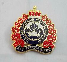 """Lake Superior Scottish Regiment """"Badge of Allegiance"""" Replica Pin-Scottish-""""NEW"""""""