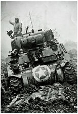 M3 Tank in Mud WWII Archival Photo Poster Print Poster Print, 13x19