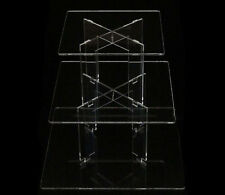 3 TIER SQUARE ACRYLIC CUPCAKE PARTY WEDDING CAKE STAND