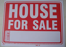 """House for sale now signs 9""""x12"""" Red flexible plastic 12607"""
