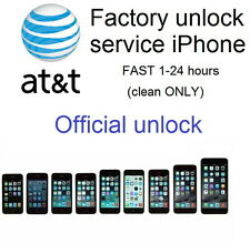Factory unlock service code AT&T att iphone 4 4s 5 5s 6 6s 7 (clean imei) 1-24 H