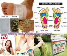 50x Kinoki Herbal Detox Foot Pads Cleansing Patches Remove Toxins Stress Relief