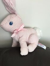 Aurora bunny rabbit baby pink comfy Stripey Comforter Soft Toy cuddly lapin A2