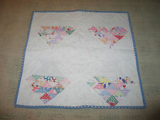 Charming VTG Antique Hand Pieced~Quilted Doll~Quilt c1900s Primitive-Baskets