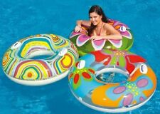 INTEX INFLATABLE SWIMMING POOL TRANSPARENT TUBE PATTERNED RING FLOAT W/ HANDLES