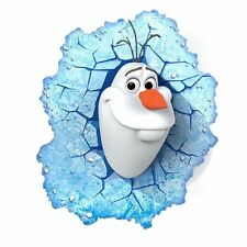 Philips 3D LED Wall Light Olaf Disney Frozen Kids Bedroom Lighting Lamp Gift New
