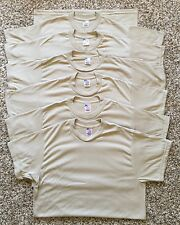 Lot Of 6 Vtg Deadstock  Military Army UnderWear Brown T-Shirt Size M Made In USA
