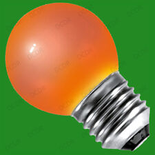 10x 15W Coloured Round Golf Ball Light Bulbs, Edison Screw Cap, ES, E27 Lamp