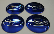 SUBARU Hub Caps Badge Emblem Stickers METAL 56.5mm  Set of 4 HIGH QUALITY