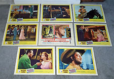 THE WONDERFUL COUNTRY original 1959 lobby card set ROBERT MITCHUM/JULIE LONDON
