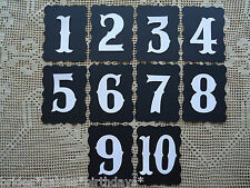 Kraft Black White Table Numbers 1 to 10 Wedding Birthday  Bracket Design DIY