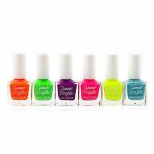 6 SUMMER BRIGHT NAIL WHOLESALE LOT FINGERNAIL POLISH LOT NO REPEATS