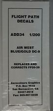 Flightpath ADD34 Douglas DC-9 Air West (Blue/Gold)  in 1:200 scale