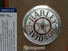 Harley Davidson CLOISONNÉ Fat Boy Tankdeckel Medallion Weiss Chrom 95741-01