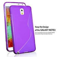 NEW 2013 S-Line Back Case Flexible TPU Cover for Samsung Galaxy Note 3-Purple