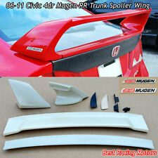 Mu-gen RR Style Trunk Spoiler Wing (ABS) + Emblem Fits 06-11 Honda Civic 4dr
