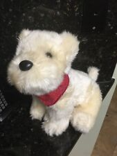"10"" American Girl Place Plush Dog BIG Coconut Terrier w Bandana Stuffed Animal"