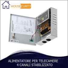ALIMENTATORE PER TELECAMERE 4 CANALI BOX 220V DC12V TELECAMERA VIDEOSORVEGLIANZA