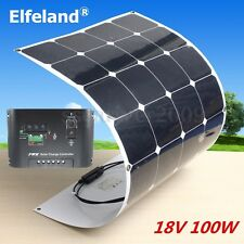 New 100W 100Watt 18V Semi Flexible Mono Solar Panel+10A 12V/24V Solar Controller