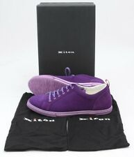 Mens KITON Purple Suede Lace-Up Fashion Sneakers Shoes 7 1/2 UK 8 1/2 US NIB