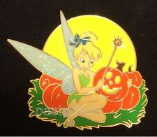Disney LE 350 Pin HTF LARGE HALLOWEEN TINKERBELL Wand PUMPKINS Moon Glow in Dark