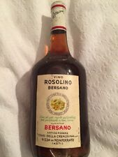 Bottiglia Da Collezione Di Vino Rosolino Bersano